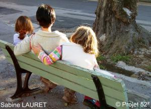 trois sur le banc sabine bibliobleu karine carville anna sam projet 52 au carré nouvelle blog facebook twitter