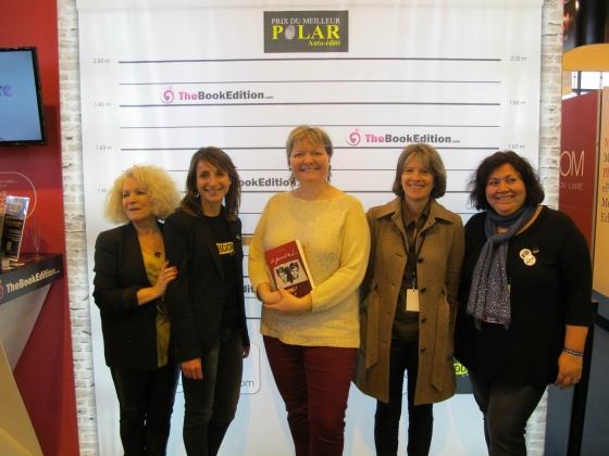 Entre Laure Lapègue (à ma gauche) et Chris Simon à ma droite, je suis trop fière ! ;)