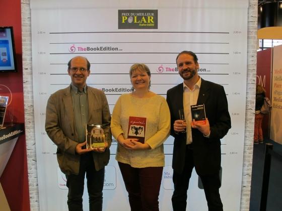 Entre Patrick Dombromski (à ma gauche) et Nicolas Feuze (à ma droite, le grand gagnant !)